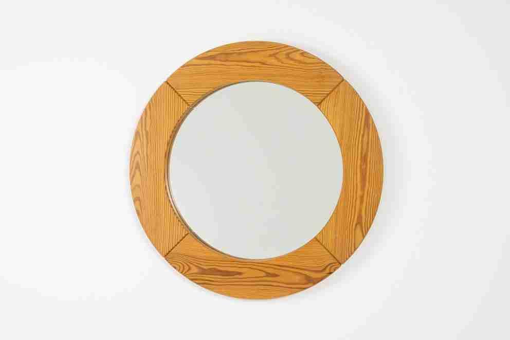 Pine mirror by Glasmaster Markaryd